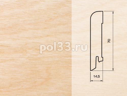 Плинтуса и пороги Pedross Шпонированный 70/15мм Клен купить в Калуге по низкой цене
