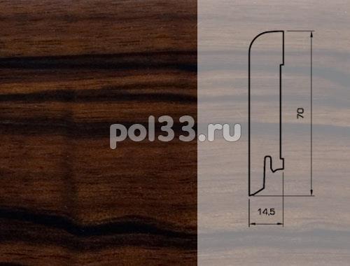 Плинтуса и пороги Pedross Шпонированный 70/15мм Макассар купить в Калуге по низкой цене