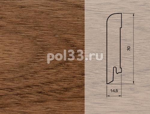 Плинтуса и пороги Pedross Шпонированный 70/15мм Орех купить в Калуге по низкой цене
