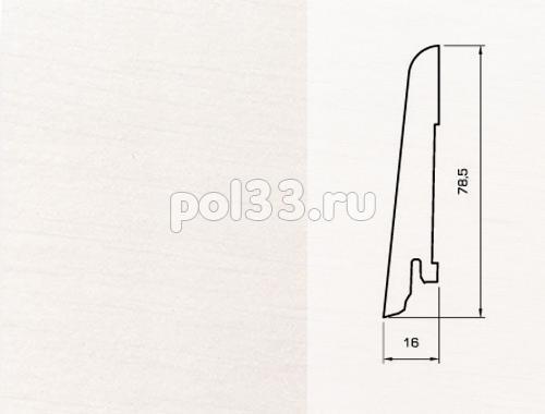 Плинтуса и пороги Pedross Шпонированный 80/16мм Белый гладкий купить в Калуге по низкой цене