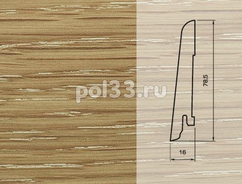 Плинтуса и пороги Pedross Шпонированный 80/16мм Дуб затертый под белым маслом купить в Калуге по низкой цене