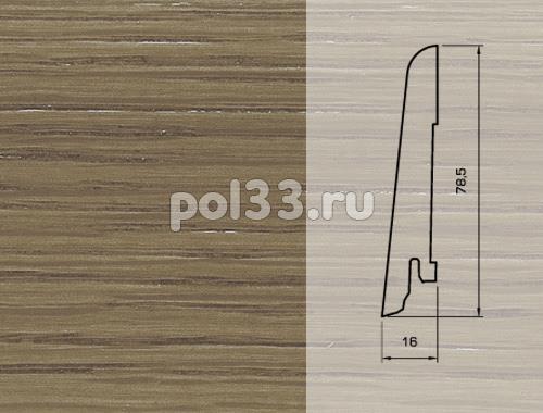 Плинтуса и пороги Pedross Шпонированный 80/16мм Дуб коричневый купить в Калуге по низкой цене