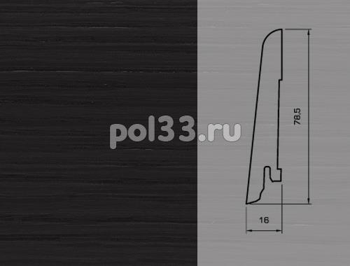 Плинтуса и пороги Pedross Шпонированный 80/16мм Дуб черный купить в Калуге по низкой цене