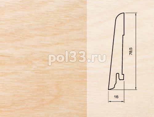 Плинтуса и пороги Pedross Шпонированный 80/16мм Клен купить в Калуге по низкой цене