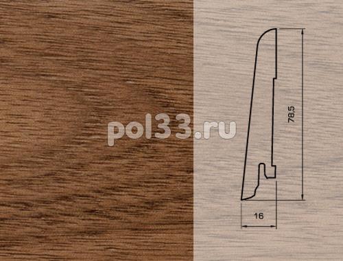 Плинтуса и пороги Pedross Шпонированный 80/16мм Орех купить в Калуге по низкой цене