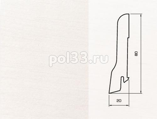 Плинтуса и пороги Pedross Шпонированный 80/20мм Белый гладкий купить в Калуге по низкой цене
