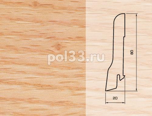 Плинтуса и пороги Pedross Шпонированный 80/20мм Дуб красный купить в Калуге по низкой цене