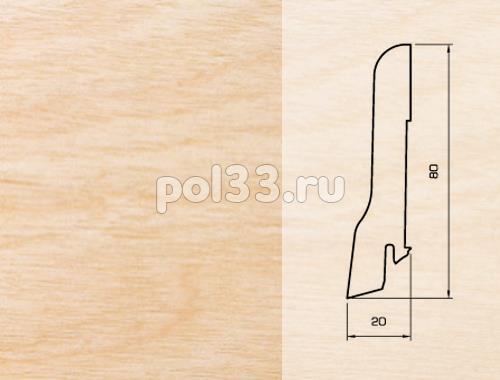 Плинтуса и пороги Pedross Шпонированный 80/20мм Клен купить в Калуге по низкой цене