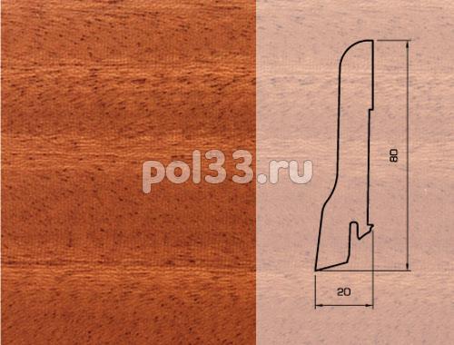 Плинтуса и пороги Pedross Шпонированный 80/20мм Махагон купить в Калуге по низкой цене