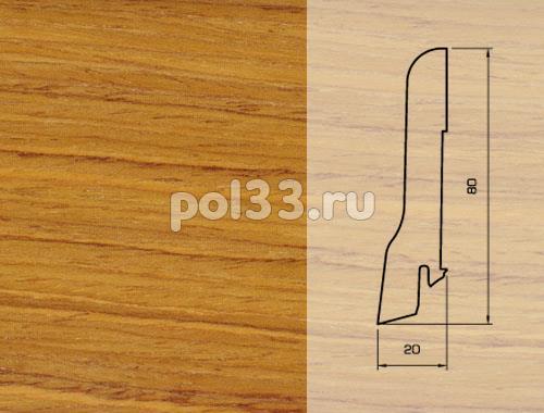 Плинтуса и пороги Pedross Шпонированный 80/20мм Тик купить в Калуге по низкой цене