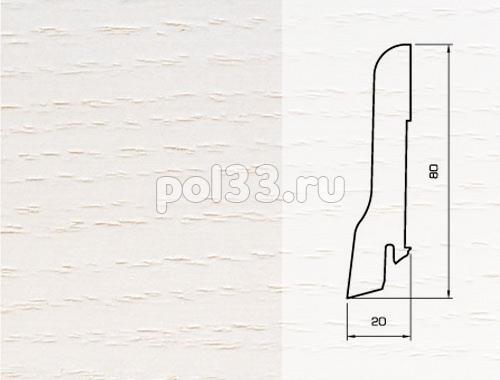 Плинтуса и пороги Pedross Шпонированный 80/20мм Ясень беленый купить в Калуге по низкой цене