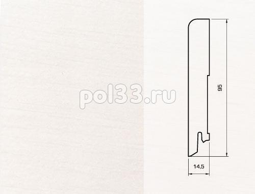 Плинтуса и пороги Pedross Шпонированный 95/15мм Белый гладкий seg100 купить в Калуге по низкой цене