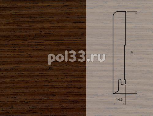 Плинтуса и пороги Pedross Шпонированный 95/15мм Венге seg100 купить в Калуге по низкой цене