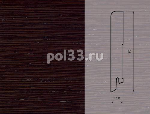 Плинтуса и пороги Pedross Шпонированный 95/15мм Венге ориджинал seg100 купить в Калуге по низкой цене