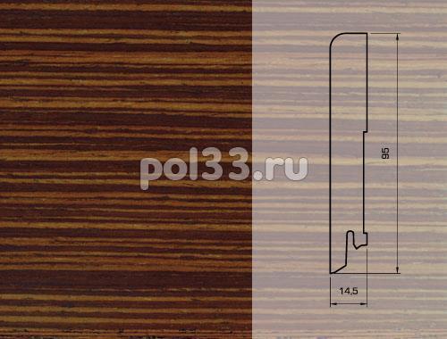 Плинтуса и пороги Pedross Шпонированный 95/15мм Венге полосатый seg100 купить в Калуге по низкой цене