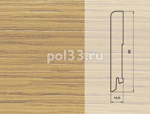 Плинтуса и пороги Pedross Шпонированный 95/15мм Дуб без покрытия купить в Калуге по низкой цене