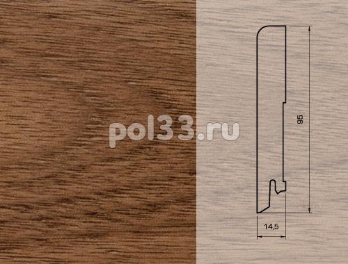 Плинтуса и пороги Pedross Шпонированный 95/15мм Орех купить в Калуге по низкой цене