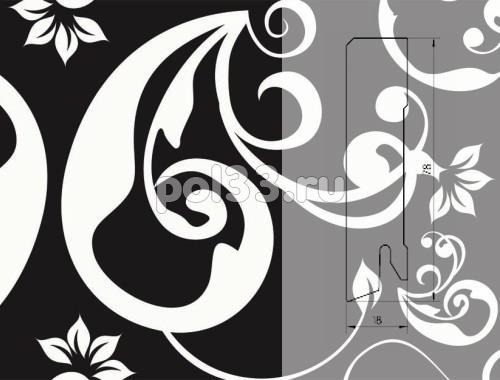 Плинтуса и пороги Pedross коллекция Digital Print Черный Floreal D010078 купить в Калуге по низкой цене