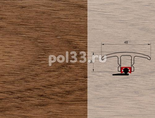 Плинтуса и пороги Pedross Молдинг шпонированный универсальный Орех купить в Калуге по низкой цене
