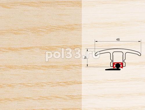 Плинтуса и пороги Pedross Молдинг шпонированный универсальный Ясень купить в Калуге по низкой цене