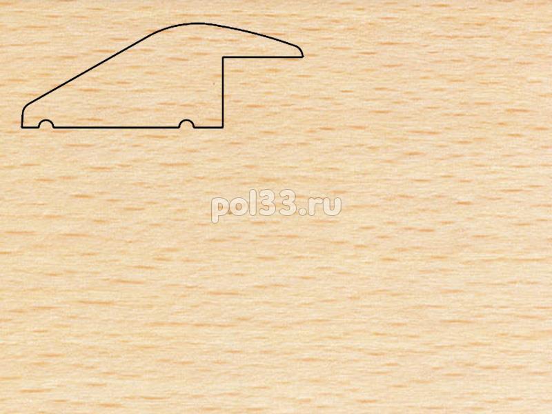 Плинтуса и пороги Pedross Молдинг массивный разноуровневый Бук купить в Калуге по низкой цене