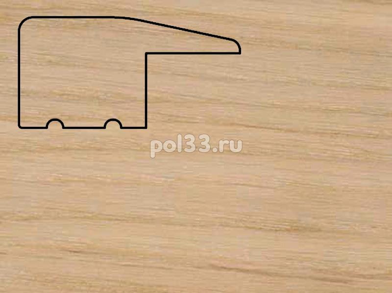 Плинтуса и пороги Pedross Молдинг массивный завершающий Дуб без покрытия купить в Калуге по низкой цене