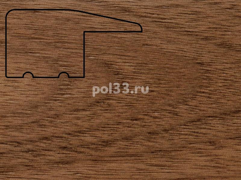 Плинтуса и пороги Pedross Молдинг массивный завершающий Орех купить в Калуге по низкой цене