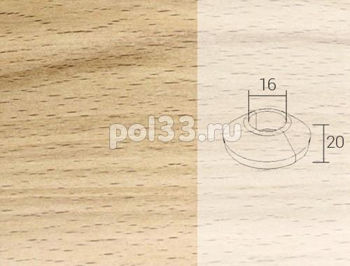 Плинтуса и пороги Pedross Кольцо массивное 16x20 Бук без покрытия купить в Калуге по низкой цене