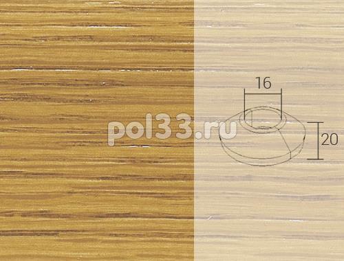 Плинтуса и пороги Pedross Кольцо массивное 16x20 Дуб купить в Калуге по низкой цене