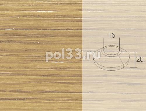 Плинтуса и пороги Pedross Кольцо массивное 16x20 Дуб без покрытия купить в Калуге по низкой цене