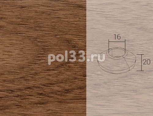 Плинтуса и пороги Pedross Кольцо массивное 16x20 Орех купить в Калуге по низкой цене