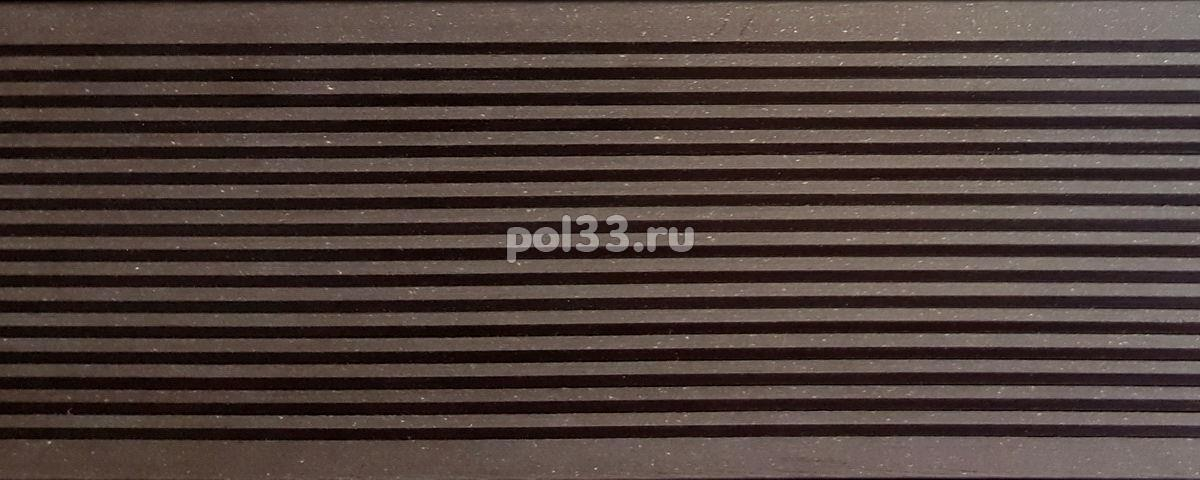 Террасная доска Darvolex шовная Венге купить в Калуге по низкой цене