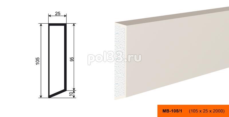 Молдинг Lepninaplast (Лепнинапласт) МВ-105-1 купить в Калуге по низкой цене