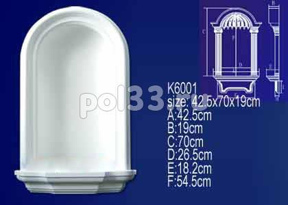 Лепной декор Perfect Ниша K6001 купить в Калуге по низкой цене