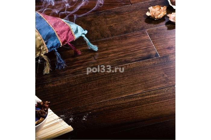 Массивная доска Parketoff коллекция Exotic Орех бирманский черный натуральный
