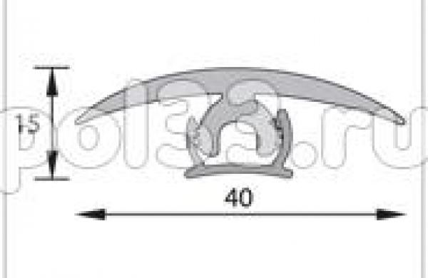 Плинтуса и пороги Ideal Порог гибкий универсальный Порог гибкий универсальный 40 мм 3 м рулон ПГу40
