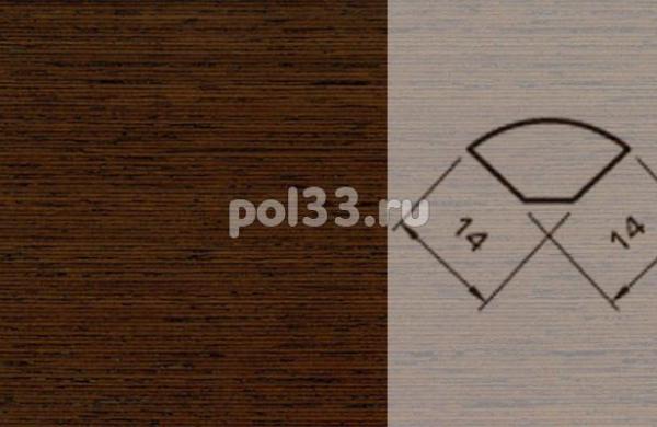 Плинтуса и пороги Pedross Шпонированный 14/14мм Венге