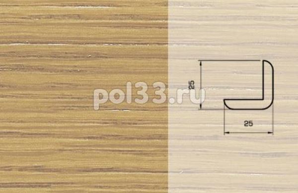 Плинтуса и пороги Pedross Шпонированный 25/25мм дуб без покрытия