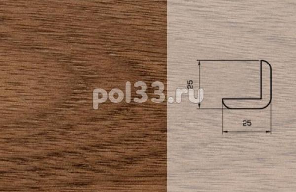Плинтуса и пороги Pedross Шпонированный 25/25мм Орех
