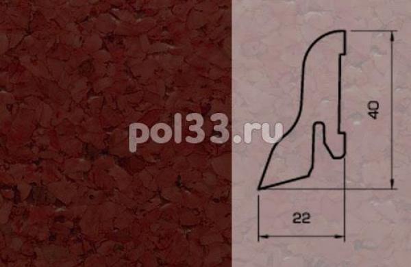 Плинтуса и пороги Pedross Шпонированный 40/22мм Пробка коричневая
