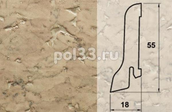 Плинтуса и пороги Pedross Шпонированный 55/18мм Пробка кремовая