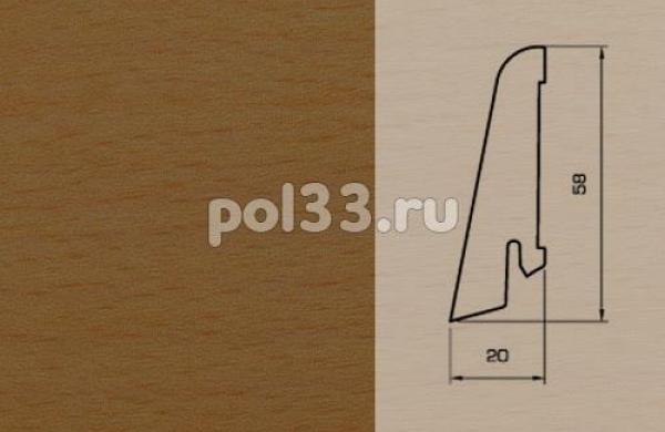 Плинтуса и пороги Pedross Шпонированный 58/20мм Бук коричневый