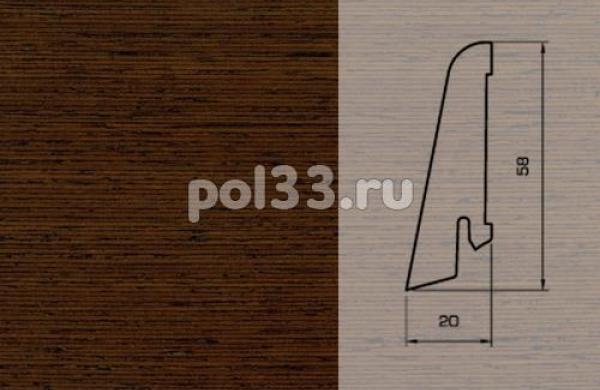 Плинтуса и пороги Pedross Шпонированный 58/20мм Венге