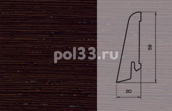 Плинтуса и пороги Pedross Шпонированный 58/20мм Венге ориджинал