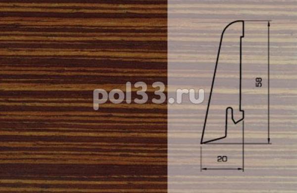 Плинтуса и пороги Pedross Шпонированный 58/20мм Венге полосатый