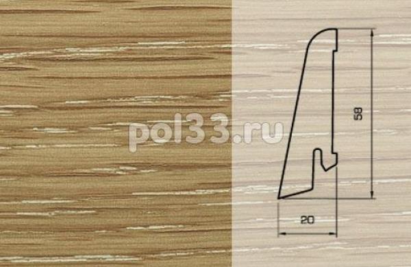 Плинтуса и пороги Pedross Шпонированный 58/20мм Дуб затертый под белым маслом