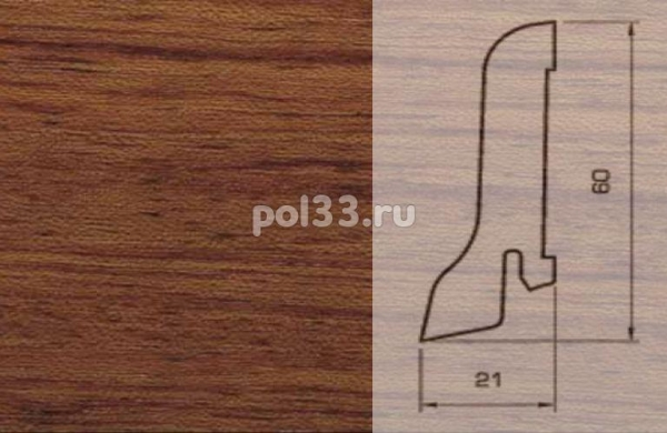 Плинтуса и пороги Pedross Шпонированный 60/22мм Бубинга