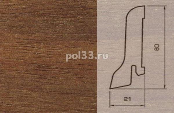 Плинтуса и пороги Pedross Шпонированный 60/22мм Бук коричневый
