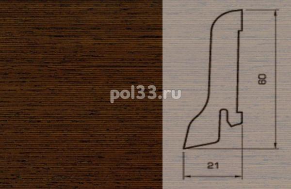 Плинтуса и пороги Pedross Шпонированный 60/22мм Венге