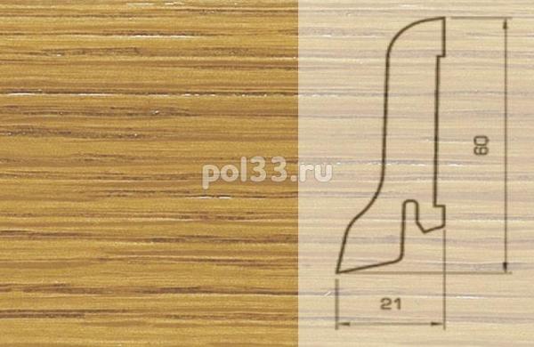Плинтуса и пороги Pedross Шпонированный 60/22мм Дуб